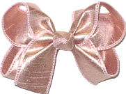 Medium Iridescent Rose Gold Dupioni Silk Bow