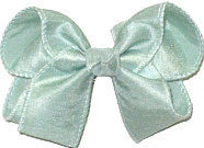 Medium Pastel Green Dupioni Silk Bow