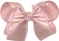 Medium Light Mauve Dupioni Silk Bow