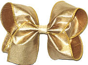 Large Iridescent Metallic Gold Dupioni SIlk Bow