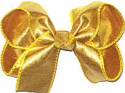 Medium Iridescent Metallic Gold Dupioni SIlk Bow