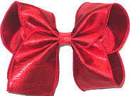 Large Iridescent Red Dupioni Silk Bow