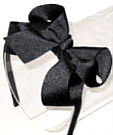 Medium Black Grosgrain Headband