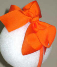 Medium Orange Grosgrain Headband