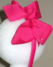 Medium Shocking Pink Grosgrain Headband