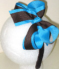 Medium Turquoise and Brown Overlay Headband