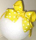 Medium Maize with White Polka Dot Headband