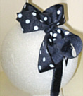 Medium Navy with White Polka Dot Headband