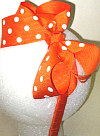 Medium Orange with White Polka Dot Headband