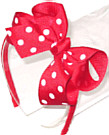 Medium Red with White Polka Dot Headband