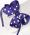 Medium Regal Purple with White Polka Dot Headband