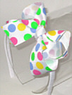 Medium White with Multi Polka Dot Headband