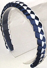 Navy and White Braided Headband
