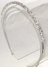 Double Row Clear Rhinestone Headband