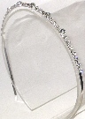 Single Row Clear Rhinestone Headband