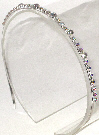 Single Row AB Rhinestone Headband