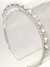 Clear Rhinestone and Pearl Headband