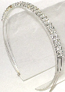 Triple Row Clear Rhinestone Headband
