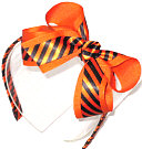 Orange and Black Medium Overlay Headband