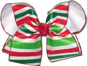 Large with Red Green and White Stripe Overlay