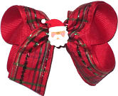 Medium Holiday Plaid with Santa Face Mniature
