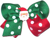 Toddler Red and Green Polkadot with Santa Face Miniature