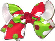 Toddler Christmas Bow on Alligator Clip