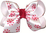 Toddler Snowflake Christmas Bow on Alligator Clip
