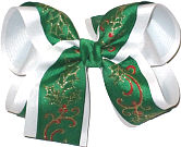 Large Christmas Holly Bow