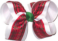 Large Christmas Striped Bow