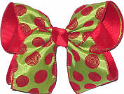 Large Red Swirl Dot Christmas Bow