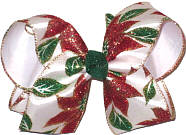 Large Poinsetta Holiday Bow