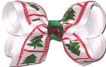 Toddler Candy Canes over Red Double Layer Overlay Bow