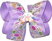 Large Easter Bow with Easter Bunny Miniature