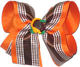 Large Thanksgiving Bow with Turkey Minature