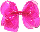 Large Hot Pink Jelly Hair Bow