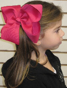 MEGA Extra Large Solid Color Bow on Model