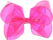 Large Hot Pink Jelly Bow