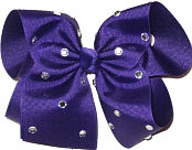 Mega Regal Purple with Rhinestones Jeweled Bow