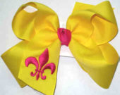 Maize and Shocking Pink Fleur de Lis