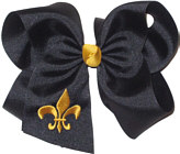 Black and Yellow Gold Fleur de Lis