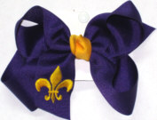 Regal Purple and Yellow Gold Fleur de Lis