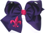 Regal Purple and Shocking Pink Fleur de Lis