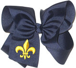 Navy and Yellow Gold Fleur de Lis