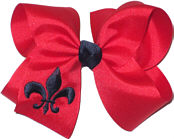Red and Navy Fleur de Lis