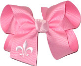 Pink and Light Pink Fleur de Lis