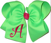 Neon Green and Shocking Pink Monogrammed Initial