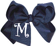Navy and White Monogrammed Initial