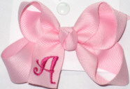 Light Pink and Shocking Pink Monogrammed Initial