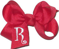 Red and White Monogrammed Initial